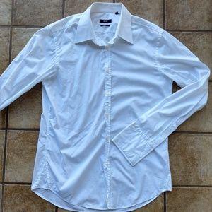 BOSS Hugo Boss L Slim Fit French Cuff Dress Shirt